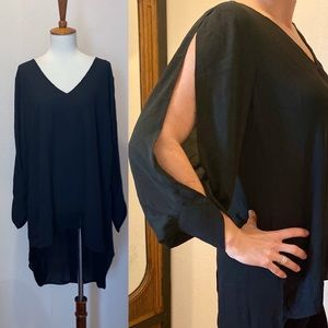NWOT City chic open sleeve tunic top